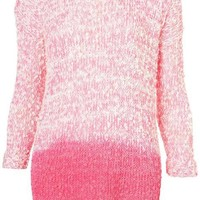 gradient color sweater round neck easing rose gradient by ClothLess