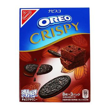 Oreo Crispy Thin Chocolate Brownie Cookies, 5.4 oz (154 g)