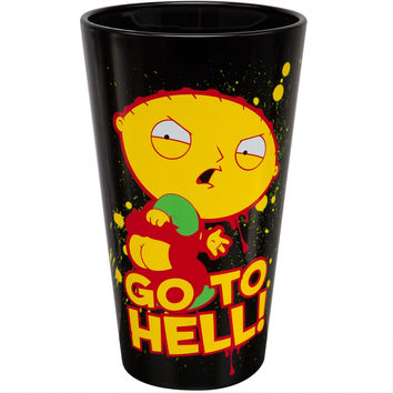 Family Guy - Go to Hell Pint Glass