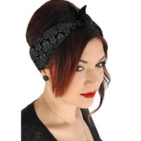 "Women's ""Kitschy Witch"" Bandana by Serpentine Clothing (Black/Grey)"