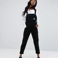 Carhartt WIP Relaxed Dungarees In Stretch Canvas at asos.com