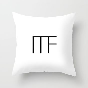 #27 Minimalist Forms white Throw Pillow by Minimalist Forms
