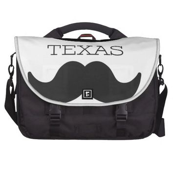 Texas in White Bag For Laptop