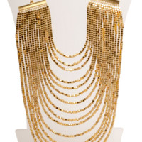 Karine Sultan Layered Bib Statement Necklace