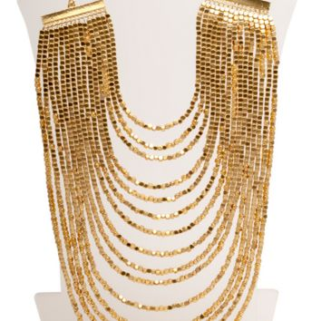 Layered Bib Statement Necklace