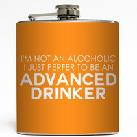 Advanced Drinker - Funny Alcohol Flask