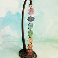 Hanging Chakras Wood Art Display, USA