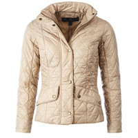 Flyweight Cavalry Quilted Jacket in Dark Stone by Barbour