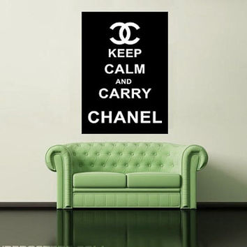 keep calm and carry chanel LARGE printable Poster