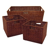 Winsome Wood Attractive Leo Wired Baskets (Set of 3)