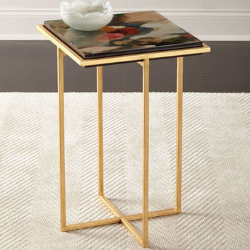 Waylande Gregory Lucidia Abstract Flowers Side Table