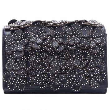Azzedine Alaia - Flower Studded Shoulder Bag | Kirna Zabête