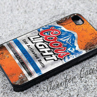 Fresh Coors Light Case for iPhone 5C , iPhone 5S , iPhone 5 , iPhone 4S , iPhone 4, Galaxy S3 or Galaxy S4