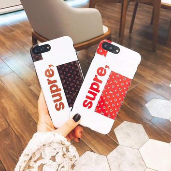 Supreme luxury brand shockproof case cover new 2017 for the iPhone 8