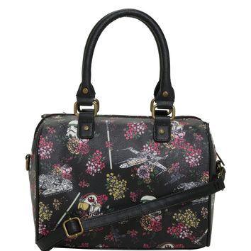 Loungefly Star Wars Storm Trooper Ships Floral Barrel Bag