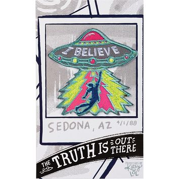 The Truth Is Out There I Believe UFO Patch