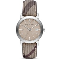 Burberry The City Smoke Check Strap Watch, 38mm | Bloomingdale's