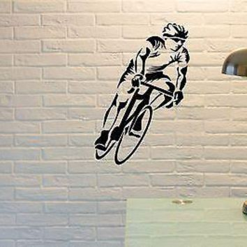 Wall Sticker Vinyl Decal Bicycle Bike Cycle Sport Decor For Living Room Unique Gift (z1118)