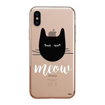 Meow - iPhone Clear Case