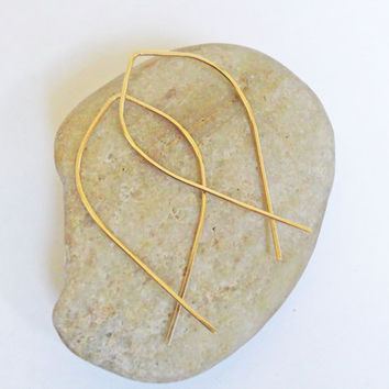 Open Hoops, 14K Gold Filled, Elongated, Marquis