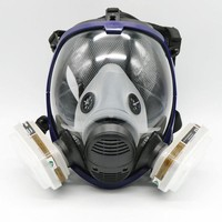 DKF4S 7 Piece Full Face Mask For  6800 Gas Mask Full Face Facepiece Respirator For Painting Spraying Free Shipping