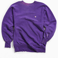 Vintage Champion Purple Crew Neck Sweatshirt | Urban Outfitters