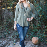On the Road Again Chambray Shirt