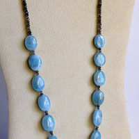 Necklace made with Aquamarine, Labradorite, and Sterling Silver, Statteam