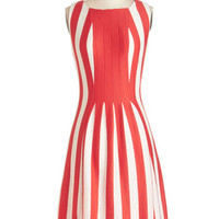ModCloth Americana Long Sleeveless A-line Impeccable Icebox Cake Dress