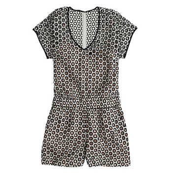 J.Crew Womens Punched-Out Eyelet Romper