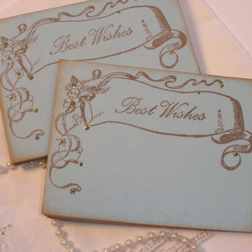 Wedding Wish Cards Vintage Banner Set of 25