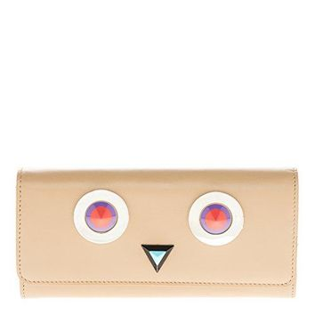 Fendi Women's Bag Bugs Continental Wallet Beige