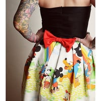 Mickey Mouse DISNEY Rainbow Party DRESS Paint Disneyland  BOW