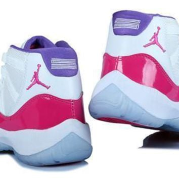 Hot Air Jordan 11 Retro Women Shoes White Pink