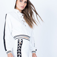 Lace-Up Hoodie and Pants Set