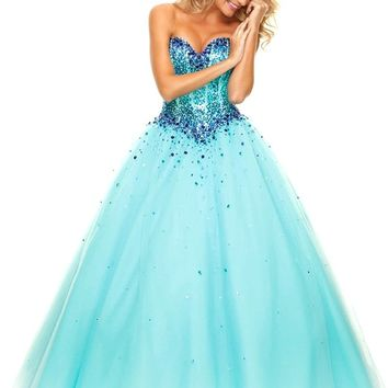 MisDress Sweetheart Floor Length Tulle Ball Gown Prom Dress