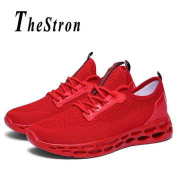 Large Size Men Sneakers Size 38-46 Man Running Shoes Blue White Jogging Male Sneakers Spring Autumn Athletic Shoes Men