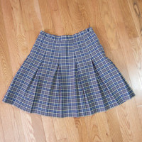 90s Plaid Skirt - 90s Skirt Pleated Skirt Pleated Mini Skirt Pleated Plaid Skirt Pleated Tennis Skirt School Girl Skirt Clueless Skirt Small
