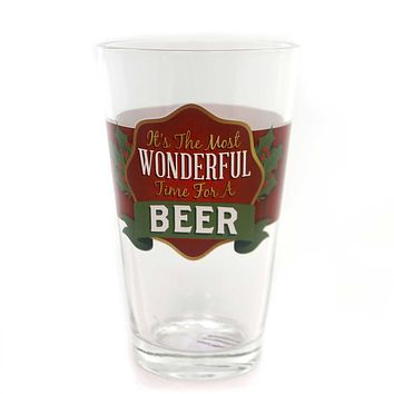 Tabletop HOLIDAY CHEER PINT GLASS Cold Beer Christmas 2020160683 Wonderful