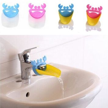 Cute Bathroom Water Tap Faucet Extender For Kid Hand Washing Child Gutter Sink Guide RANDOM COLOR (Size: One Size, Color: Multic