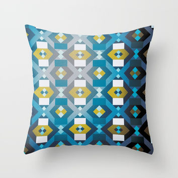 Cubic grunge Throw Pillow by g-man