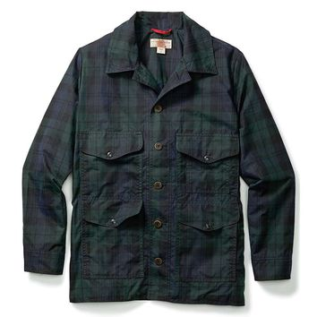 Filson Seattle Waxed Tartan Cruiser Jacket - Men's Medium - Black Watch Tartan