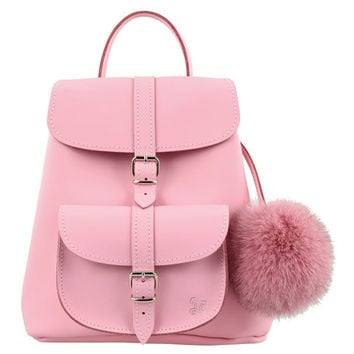 Grafea Belle Pink Leather Baby Backpack