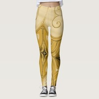 Magic Amber Gold Pattern Leggings