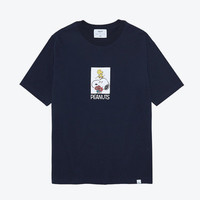 예약배송LIFUL X PEANUTS CARTOON BOX TEE - NAVY