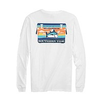 Mountain Weekend Cooler Long Sleeve T-Shirt in Classic White by Southern Tide