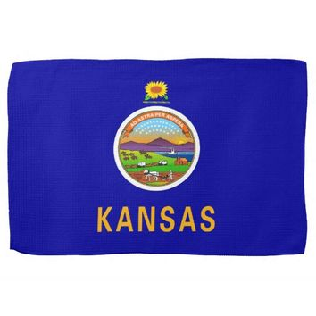 Kitchen towel with Flag of Kansas, U.S.A.