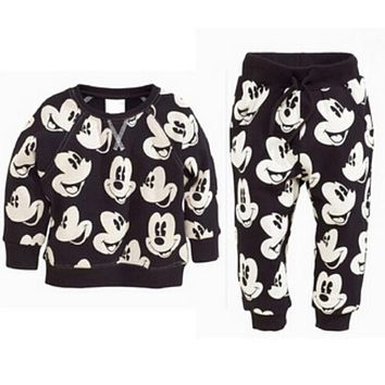 Boutique Baby Boys Clothing Sets Autumn Winter Boy Set Sport Suits Mickey For Boys Sweater Shirt Pants 2 Pieces Kids Clothes