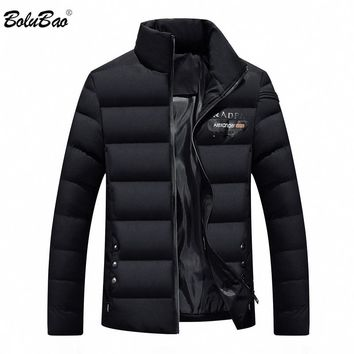 BOLUBAO Men's Winter Jackets Solid Color Outerwear Winter Fashion Padded Cotton