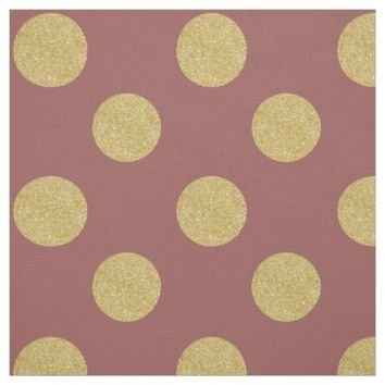 Fabric: Purple & faux gold polka dots Fabric